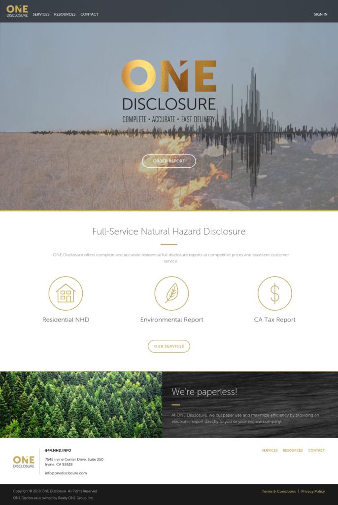 ONE Disclosure